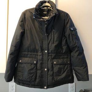 DKNY black down jacket.  Size L.